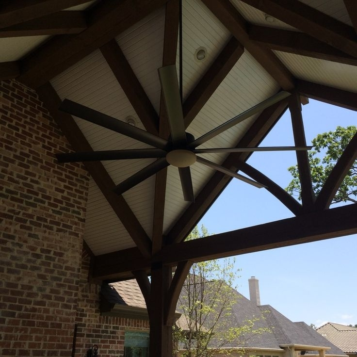 Large Outdoor Ceiling Fans With Lights Within Most Current Ceiling: Astonishing Large Outdoor Ceiling Fans Large Ceiling Fans (View 8 of 15)