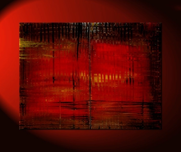 Large Red Abstract Painting Bold Modern Original Textured Huge Urban Inside Well Liked Bold Abstract Wall Art (View 14 of 15)