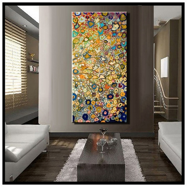 Large Single Abstract Flower Cheap Huge Vertical Oil Painting On For Trendy Large Cheap Wall Art (View 4 of 15)