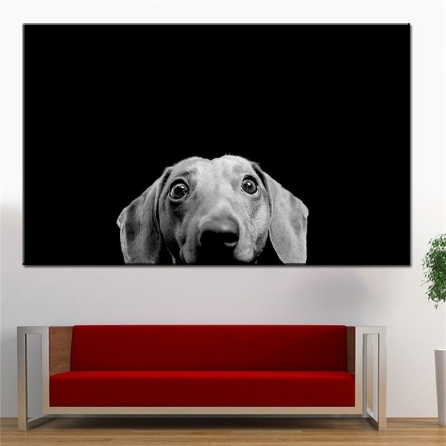 Large Size Printing Oil Painting Dachshund Wall Painting Decor Wall Inside Best And Newest Dachshund Wall Art (View 12 of 15)