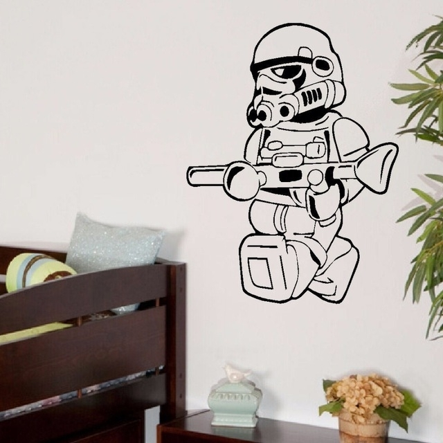 Large Star Wars Lego Men Storm Trooper For Children Kids Bedroom In Most Recently Released Lego Star Wars Wall Art (View 13 of 15)