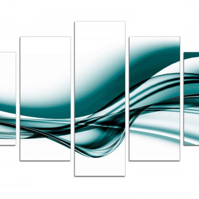 Large Teal Wall Art For Most Recent 4 Large Teal Canvas Wall Art, Large Teal Seascape Sunset Canvas (View 9 of 15)