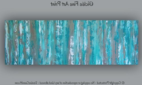 Large Teal Wall Art Inside Trendy Office Decor, Large Aqua Teal Abstract Art Print, Teal Wall Art (View 6 of 15)