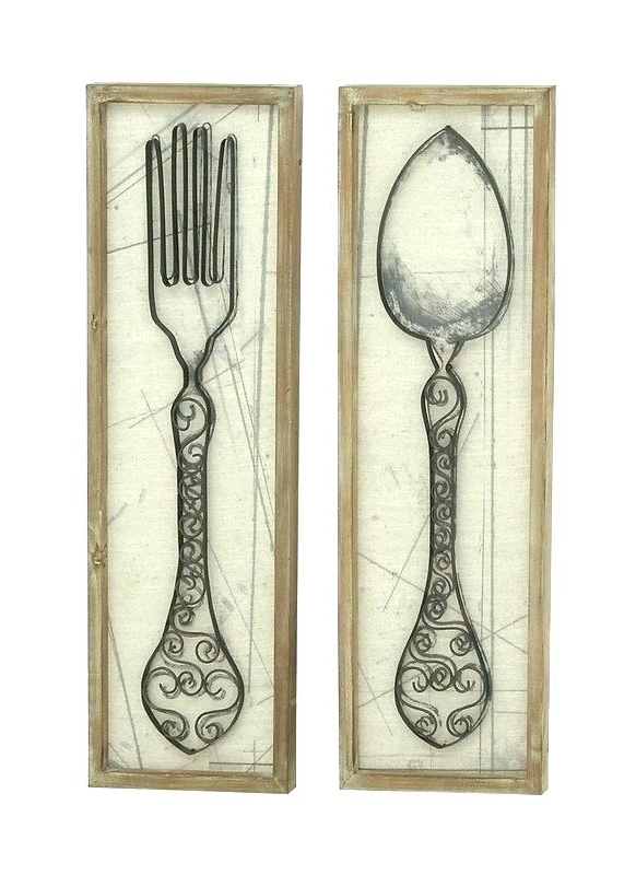 Large Utensil Wall Art Inside Most Current Utensil Wall Decor Large Kitchen Wall Decor Large Kitchen Utensil (View 15 of 15)