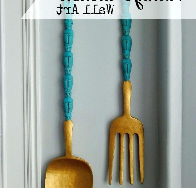 Large Utensil Wall Art Wooden Kitchen Utensil Wall Art My Recipe Intended For Fashionable Large Utensil Wall Art (View 7 of 15)