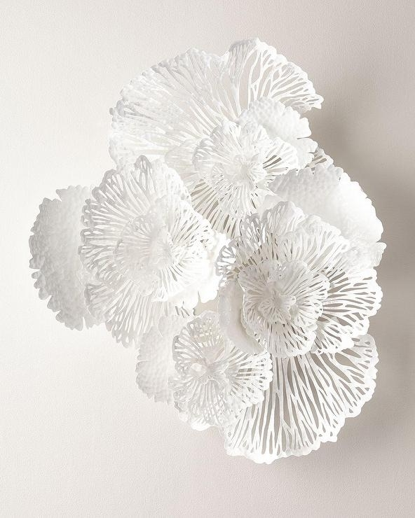Large White Wall Art Intended For Famous Large White Flower Wall Art (View 8 of 15)