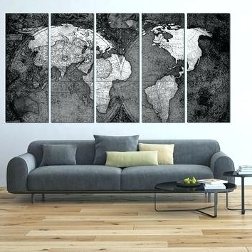 Large World Map Wall Art Extra Large Framed Wall Art Wall Art Intended For Most Recent Extra Large Framed Wall Art (View 3 of 15)
