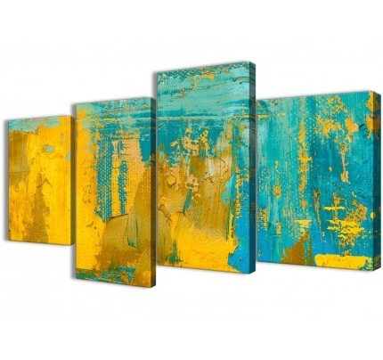 Large Yellow Wall Art With Regard To Widely Used Yellow Canvas Pictures Prints & Wall Art – Free Delivery (View 10 of 15)