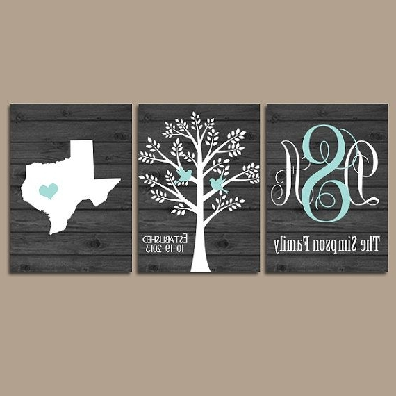 Last Name Wall Art Pertaining To Well Known 37 Personalized Family Wall Art, Personalized Family Name Sign Wall (View 4 of 15)
