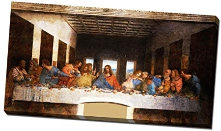 Last Supper Wall Art For Trendy Leonardo Da Vinci The Last Supper Canvas Print Picture Wall Art (View 7 of 15)