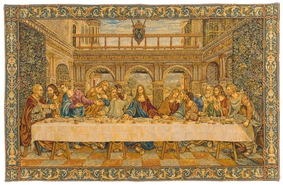 Last Supper Wall Art Inside Newest Last Supper Wall Art Last Supper Tapestry Wall Hanging Da (View 8 of 15)
