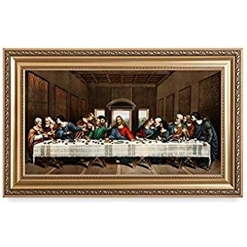 Last Supper Wall Art intended for 2018 Amazon: The Last Supperleonardo Da Vinci Framed Art Print