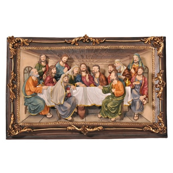 "Last Supper Wall Art Intended For Famous Charlton Home ""the Last Supper"" 3 D Plaque Wall Décor & Reviews (View 10 of 15)"