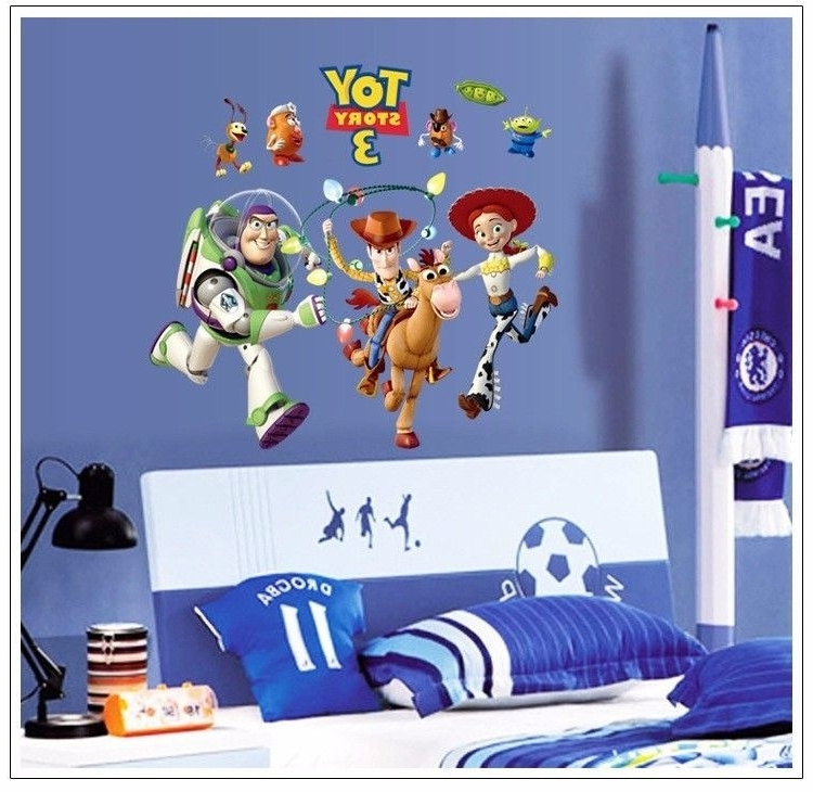 Latest 2016 Hot Sell Toy Story Woody Buzz Lightyear Wall Decals Removable In Toy Story Wall Stickers (View 12 of 15)