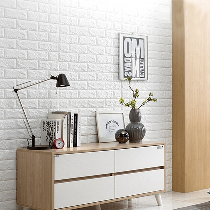 Latest 3D Brick Wall Art With Regard To 3D Peel & Stick Wallpaper Brick Design 10 Sheets 58 Sq (View 12 of 15)