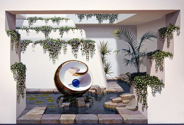 Latest 3D View Picture: 3D Wall Art Pertaining To 3D Wall Art For Bathroom (View 4 of 15)