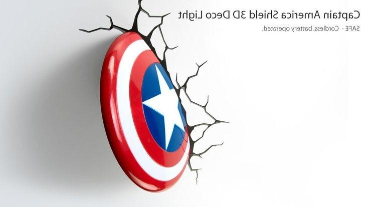 Latest 3D Wall Art Captain America Night Light With Regard To 3D Wall Art Night Light Inspirational 16 Beautiful 3D Wall Art (View 12 of 15)