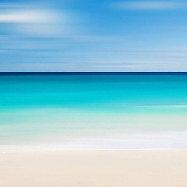 Latest Abstract Beach Wall Art Within Beach Canvas Art Abstract Seascape Nautical Decor Caribbean Sea (View 8 of 15)