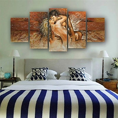 Latest Abstract Body Wall Art Pertaining To Nude Body Made Lovers Romantic Love Story Abstract Oil Painting Wall (View 10 of 15)