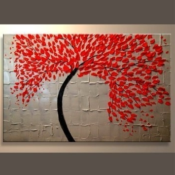 Latest Amazon: Modern Abstract Canvas Art Wall Decor Oil Painting Wall With Regard To Abstract Leaves Wall Art (View 8 of 15)
