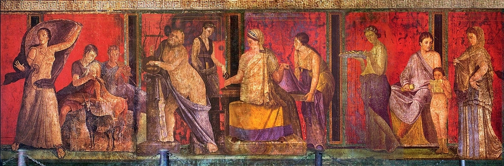 Latest Ancient Roman Wall Painting (View 9 of 15)