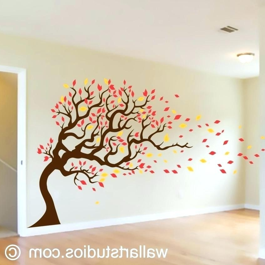 Latest Autumn  Inspired Wall Art With Regard To Wall Tree Design – Aldinarnautovic (View 11 of 15)