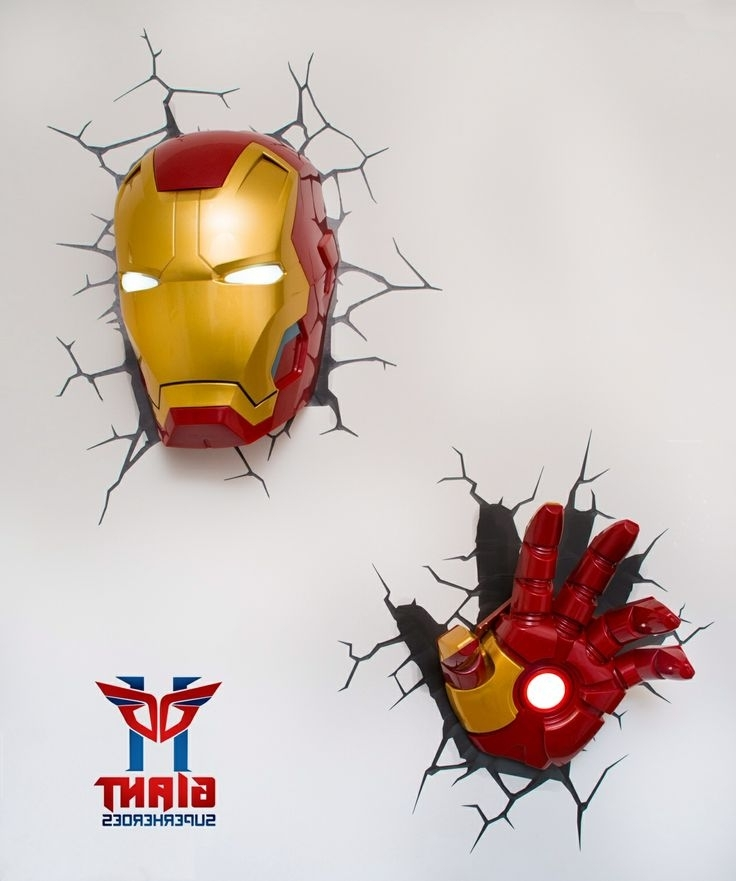 Latest Avengers 3D Wall Art Throughout Super Cool Avengers 3D Wall Deco Night Lights For Sale, 3D Wall Art (View 9 of 15)