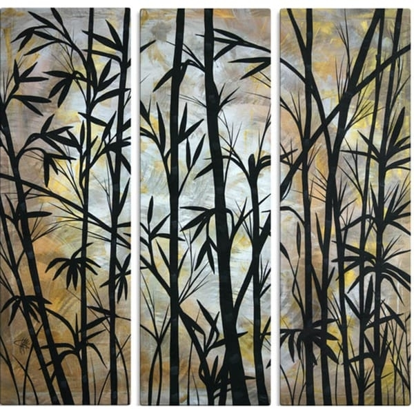 Latest Bamboo Metal Wall Art In Shop Megan Duncanson 'bamboo Shoots' Metal Wall Decor – On Sale (View 8 of 15)