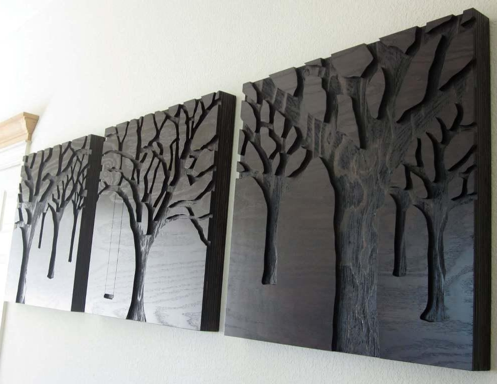 Latest Black Wood Plank Wall Art : Andrews Living Arts – Create Different Regarding Wall Art On Wood (View 4 of 15)