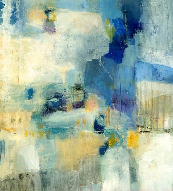 Latest Blue Green Abstract Wall Art Pertaining To Articulation Yellow And Blue Abstract Wall Art (View 9 of 15)