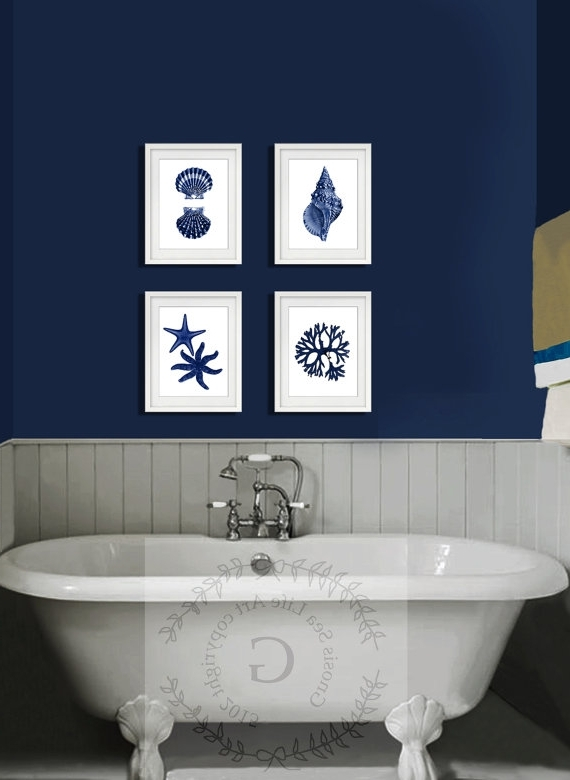 Latest Blue Wall Decor – Home Design And Wall Decoration Ideas Within Blue And White Wall Art (View 6 of 15)