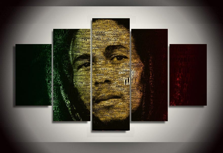 Latest Bob Marley Canvas Wall Art Throughout Wall Art Bob Marley Painting Cheap Room Decor Print Poster Picture (View 4 of 15)