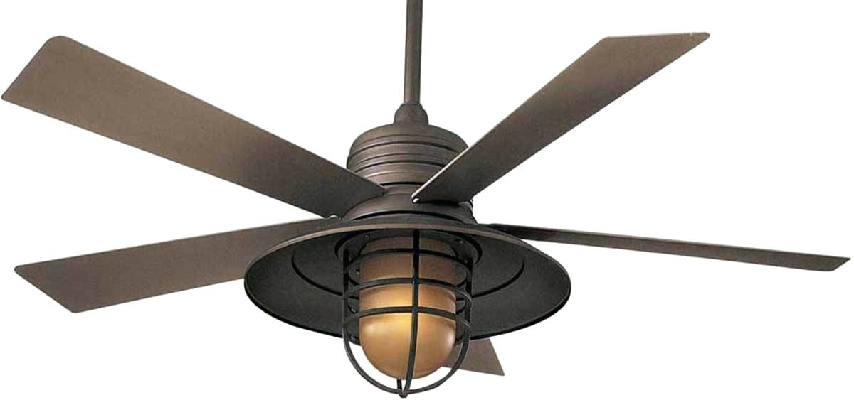 Featured Photo of Outdoor Ceiling Fans With Cage