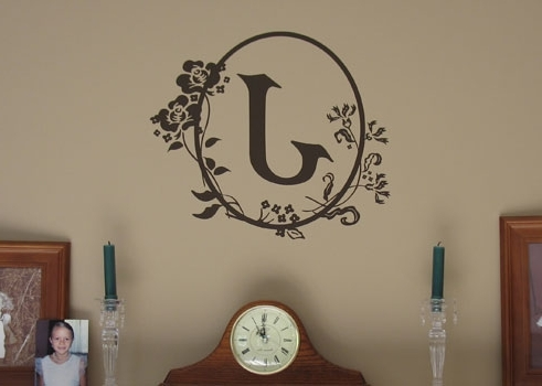 Latest Cameo Wall Art Regarding Cameo Letter Vinyl Wall Design Perfect Monogram Wall Art – Home (View 6 of 15)