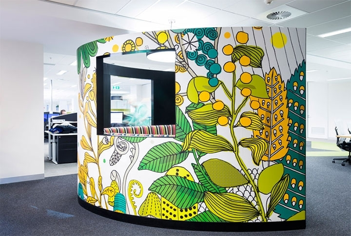 Latest Commercial Wall Art Throughout Bold Colors And Wall Art – New Trends In Commercial Interior Design (View 10 of 15)