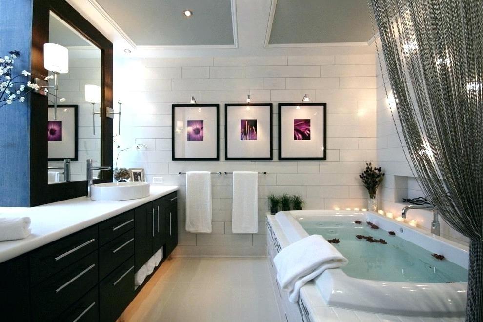 Latest Contemporary Bathroom Wall Art Pertaining To Modern Bathroom Wall Decor Ideas – Stranieri (View 10 of 15)