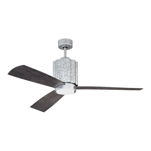 Latest Craftmade Pnr52Gv3 Pioneer 52 Inch Galvanized With Greywood Blades In Outdoor Ceiling Fans With Galvanized Blades (View 3 of 15)