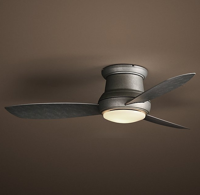 Latest Flush Mount Outdoor Ceiling Fans Inside Flush Mount Outdoor Ceiling Fan With Light (View 7 of 15)