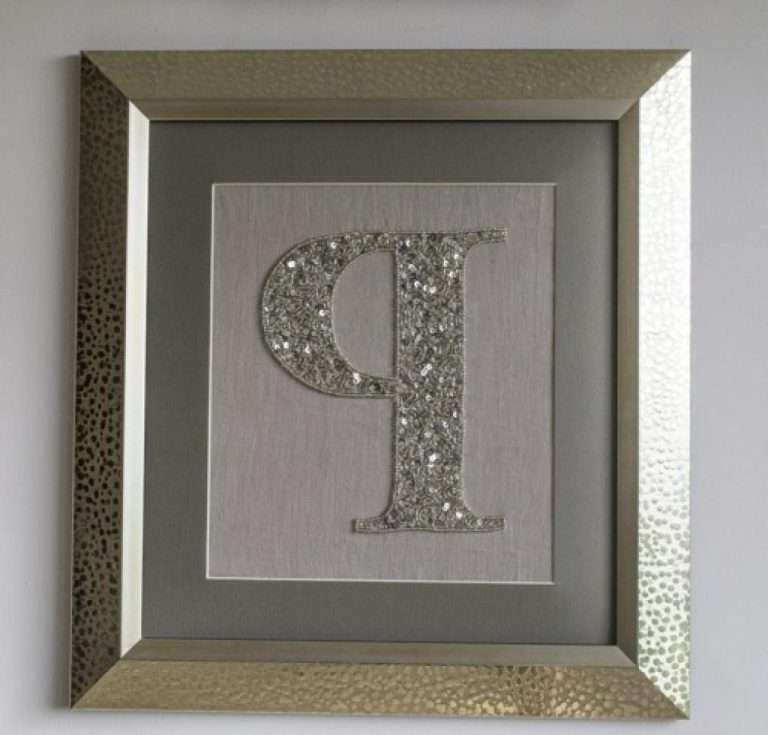 Latest Framed Initial Wall Art Best Of 20 Best Ideas Framed Monogram Wall Inside Framed Monogram Wall Art (View 5 of 15)