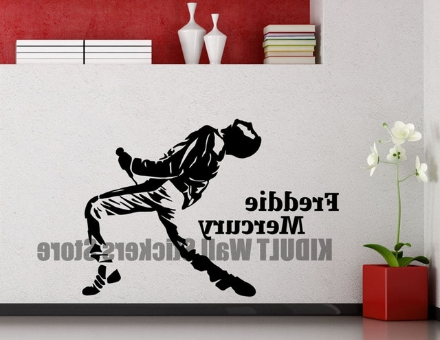Latest Freddie Mercury Wall Decal Queen Metal Rock Music Band Vinyl Wall For Freddie Mercury Wall Art (View 5 of 15)