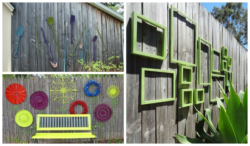 Latest Garden Wall Decor Ideas Awesome 25 Incredible Diy Garden Fence Wall Inside Diy Garden Wall Art (View 12 of 15)