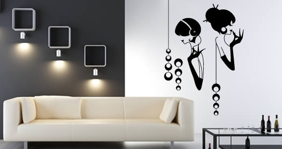 Latest Glamorous Wall Art With Regard To Glamour Girls Wall Decals (View 6 of 15)