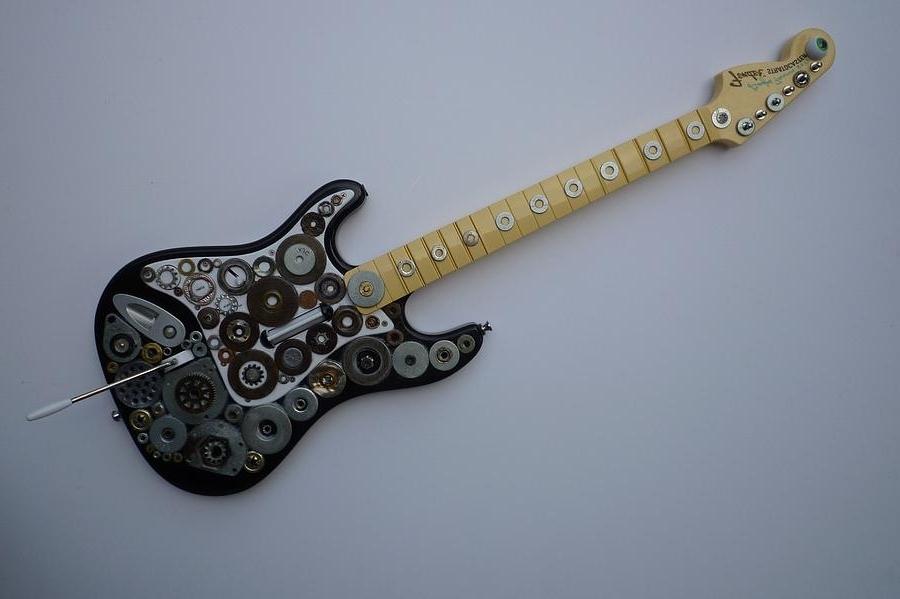 Latest Heavy Metal Guitar Sculpturedouglas Fromm Inside Guitar Metal Wall Art (View 8 of 15)