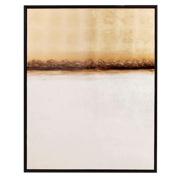 Latest Horizon Abstract Gold And Silver Hi Gloss Canvas Wall Art – Free Pertaining To Abstract Horizon Wall Art (View 7 of 15)