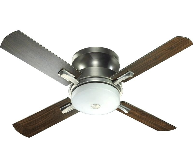Latest Hunter Outdoor Ceiling Fans With Lights And Remote Inside Flush Ceiling Fans Beautiful Hunter Flush Mount Ceiling Fan With (View 8 of 15)
