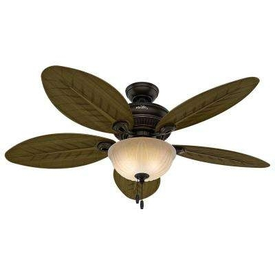 Latest Hunter Outdoor Ceiling Fans With Lights In Hunter – Outdoor – Ceiling Fans – Lighting – The Home Depot (View 10 of 15)