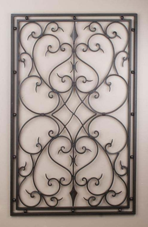 Latest Iron Wall Art – Temomido Within Rectangular Metal Wall Art (View 3 of 15)