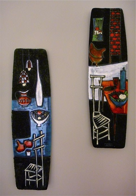 Latest Italian Ceramic Wall Art Within Modernist Italian Ceramic Wall Plaques – 1950S (View 8 of 15)