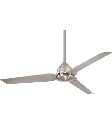 Latest Java 54 Inch Brushed Nickel Wet With Silver Blades Outdoor Ceiling Fan Intended For Nickel Outdoor Ceiling Fans (View 15 of 15)