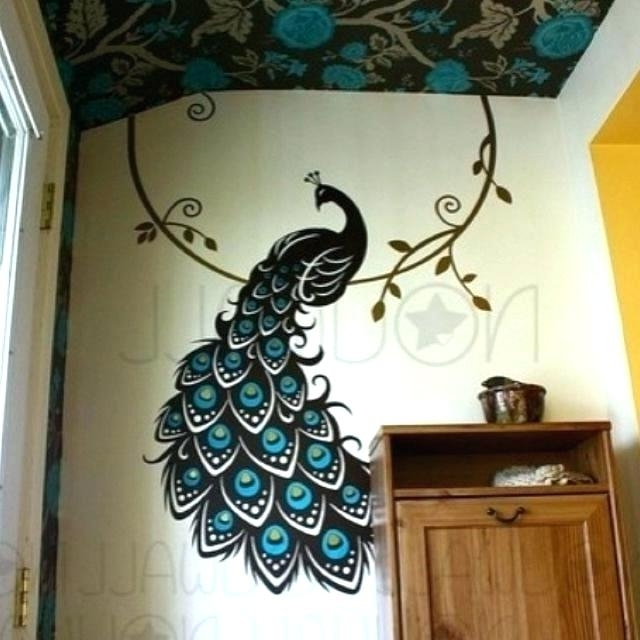 Latest Jeweled Peacock Wall Art Inside Metal Peacock Wall Art Metal Peacock Wall Decor Elegant Wall Art (View 11 of 15)